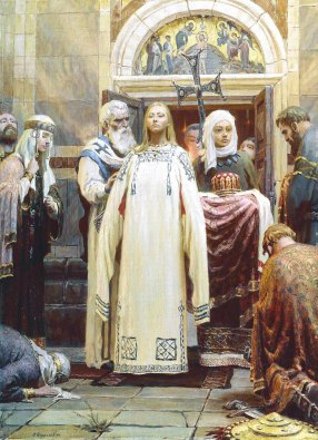 sergei-kirillov-the-baptism-of-grand-princess-st-olga-part-1-of-the-triptych-holy-rus-1993