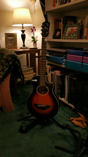 My little Yamaha travel guitar