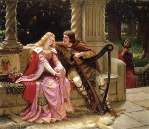 Tristan and Isolde, 1902, by Edmund Leighton (1853-1922)