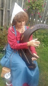 me circular harp backyard closeup Sept. 2016