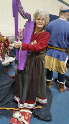 me with purple harp at Maidens 2018