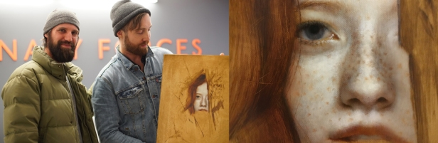 anne with an E portrait with artist Brad Kunkle