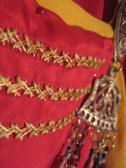 coronation garb in progress, smokkr panel, shows metallic thread