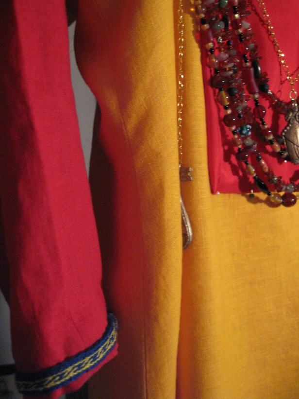 coronation garb, sleeve and panel details