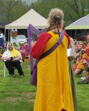 me doing Havamal at Coronation Evening Court 5 May 2018 with Janet (2)