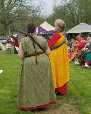 me doing Havamal at Coronation Evening Court 5 May 2018 with Janet (3)