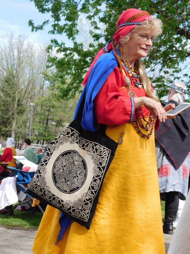 me in transit at Midrealm Spring Coronation May 5, 2018 photo by Tina Smith