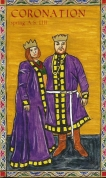 Program cover, Midrealm Spring Coronation, A.S. LIII, cover illumination by Steve of Tirnewydd.