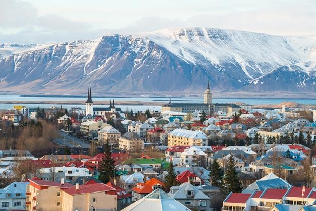 Reykjavik the capital city of Iceland.