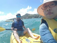 Nick and Summer kayaking off the coast of Maui, September 2018.