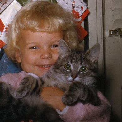 me with Ballo, Christmas 1953