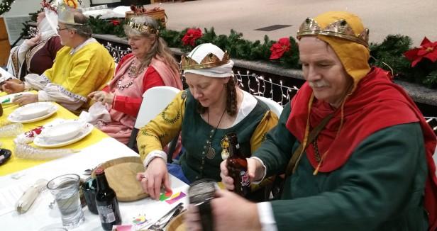12th Night High table, Fenix Baron and Baroness