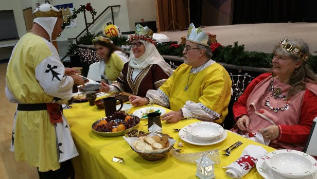 12th Night High table, FG Baron Edward, King and Queen of the Bean and MM Baroness Melisande