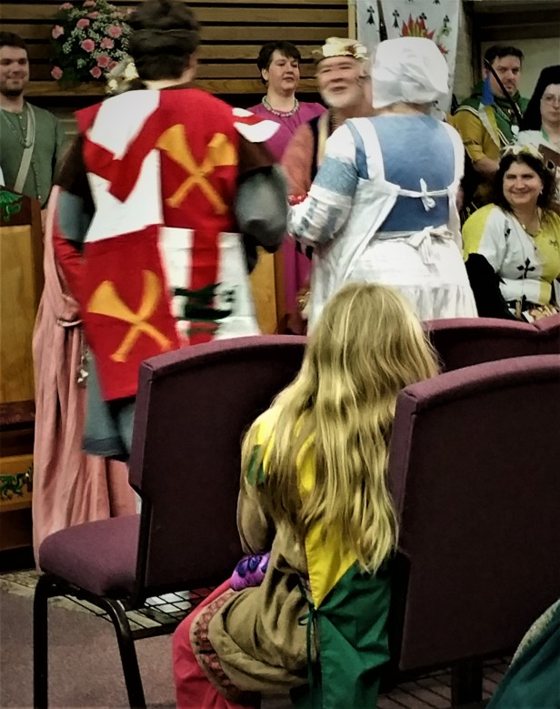 12th Night Lady Babette being honored by MM Baron Talymar