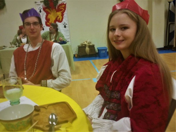 12th Night my Feast tablemates Alexander and Gabrielle