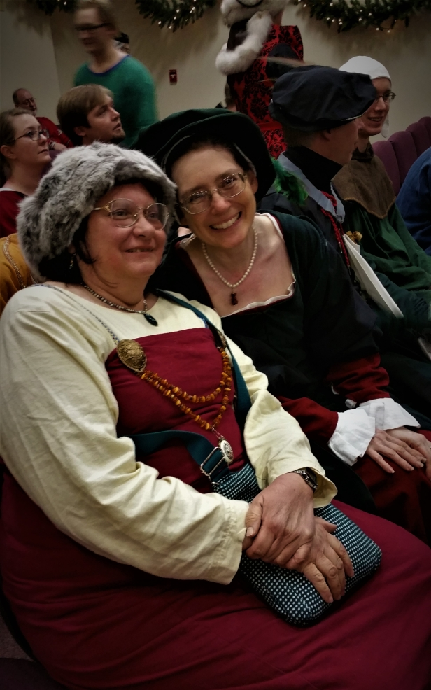 12th Night Rose Marian and Slany at Court