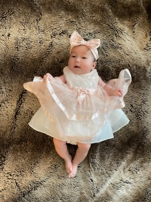 chloe-in-pink-party-dress-and-bow-three-months-old-2020