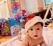 My granddaughter Chloe on her first Christmas.